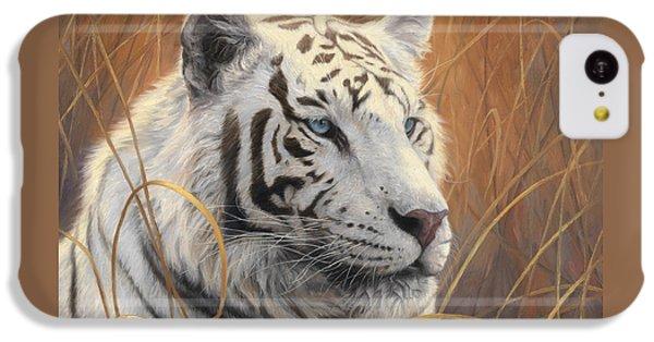 Portrait White Tiger 2 IPhone 5c Case by Lucie Bilodeau