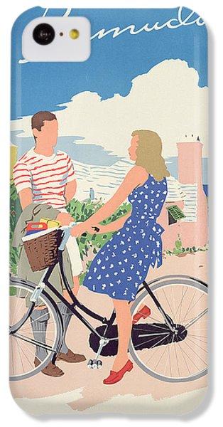 Bicycle iPhone 5c Case - Poster Advertising Bermuda by Adolph Treidler