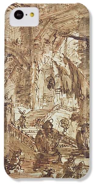 Dungeon iPhone 5c Case - Preparatory Drawing For Plate Number Viii Of The Carceri Al'invenzione Series by Giovanni Battista Piranesi