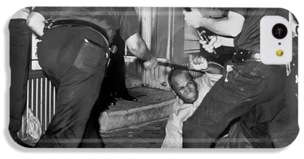 Protester Clubbed In Harlem IPhone 5c Case by Underwood Archives