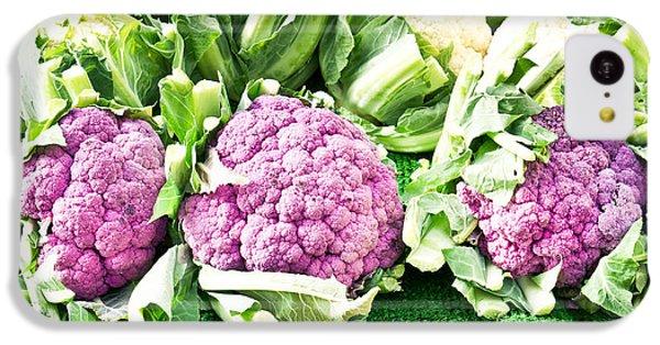 Purple Cauliflower IPhone 5c Case by Tom Gowanlock