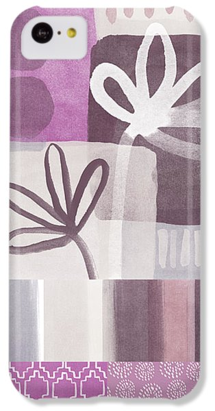 Purple Patchwork- Contemporary Art IPhone 5c Case by Linda Woods