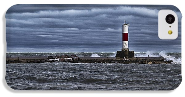 IPhone 5c Case featuring the photograph Raging Lake Michigan  by Ricky L Jones