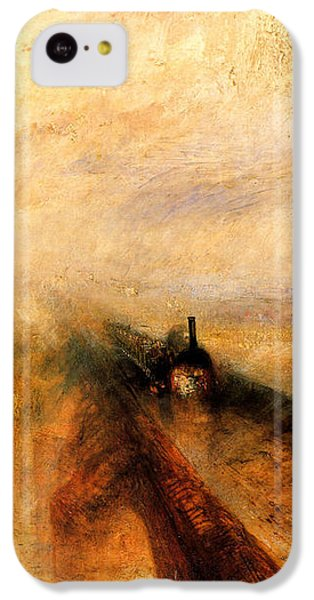 Rain Steam And Speed.  IPhone 5c Case by J M W Turner