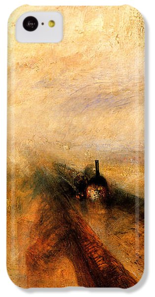 Train iPhone 5c Case - Rain Steam And Speed.  by J M W Turner