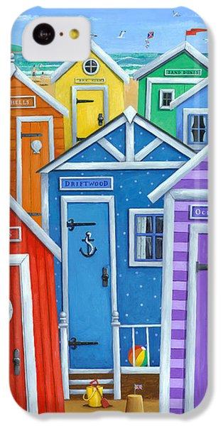 Rainbow Beach Huts IPhone 5c Case by Peter Adderley