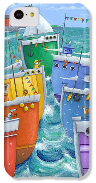 Rainbow Flotilla IPhone 5c Case by Peter Adderley