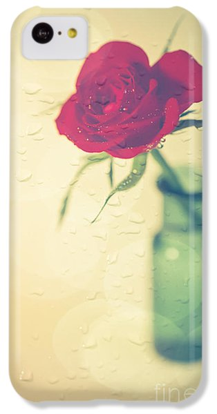 Valentines Day iPhone 5c Case - Raindrops On Roses . . . by Jan Bickerton
