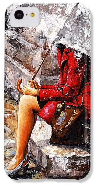 Rainy Day - Woman Of New York IPhone 5c Case by Emerico Imre Toth