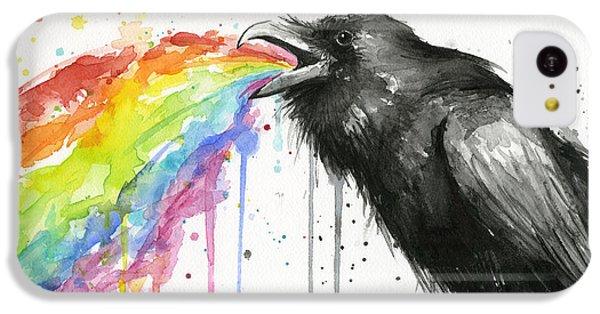 Raven iPhone 5c Case - Raven Tastes The Rainbow by Olga Shvartsur