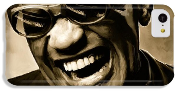 Ray Charles - Portrait IPhone 5c Case by Paul Tagliamonte