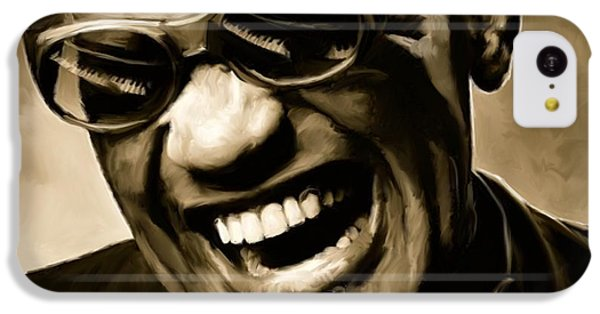 Jazz iPhone 5c Case - Ray Charles - Portrait by Paul Tagliamonte