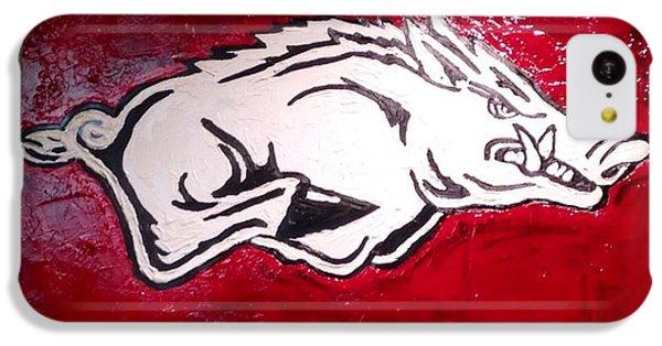 Razorback Painting Art IPhone 5c Case by Dawn Bearden