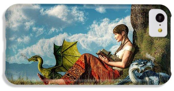 Dungeon iPhone 5c Case - Reading About Dragons by Daniel Eskridge