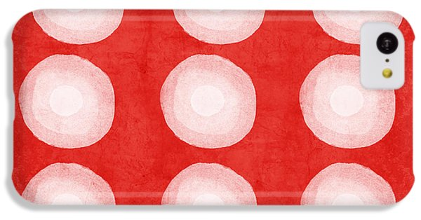 Red And White Shibori Circles IPhone 5c Case