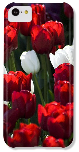IPhone 5c Case featuring the photograph Red And White Tulips by Yulia Kazansky