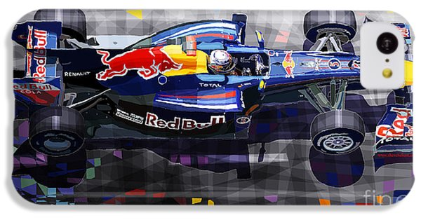 Car iPhone 5c Case - Red Bull Rb6 Vettel 2010 by Yuriy Shevchuk