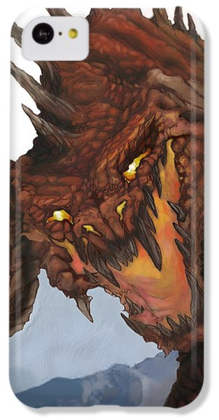 Red Dragon IPhone 5c Case by Matt Kedzierski
