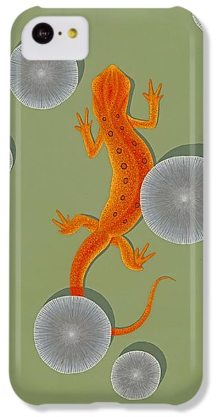Red Eft Newt IPhone 5c Case by Nathan Marcy