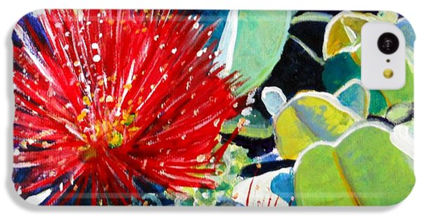 Red Ohia Lehua Flower IPhone 5c Case
