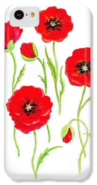 Red Poppies IPhone 5c Case