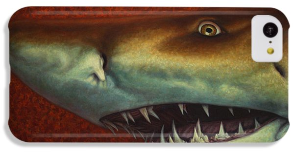 Hammerhead Shark iPhone 5c Case - Red Sea Shark by James W Johnson