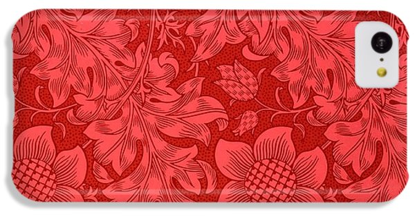 Sunflower iPhone 5c Case - Red Sunflower Wallpaper Design, 1879 by William Morris