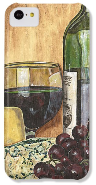 Red Wine And Cheese IPhone 5c Case by Debbie DeWitt