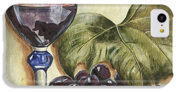 Cocktails iPhone 5c Case - Red Wine And Grape Leaf by Debbie DeWitt