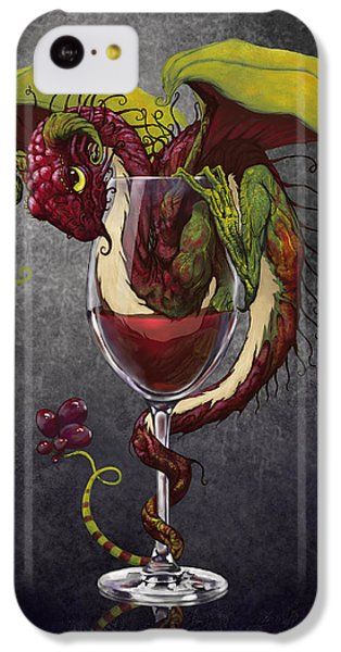 Dragon iPhone 5c Case - Red Wine Dragon by Stanley Morrison