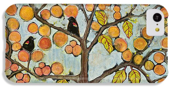 Red Winged Black Birds In A Tree IPhone 5c Case