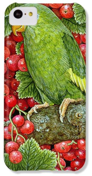Parakeet iPhone 5c Case - Redcurrant Parakeet by Ditz