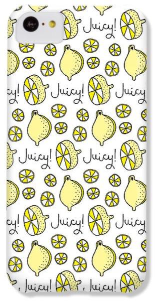 Repeat Prtin - Juicy Lemon IPhone 5c Case by Susan Claire