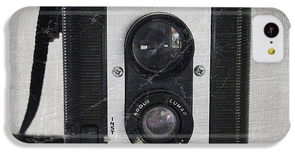 White iPhone 5c Case - Retro Camera by Linda Woods