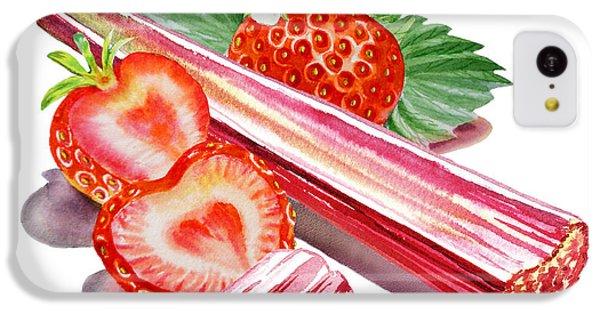 IPhone 5c Case featuring the painting Rhubarb Strawberry by Irina Sztukowski