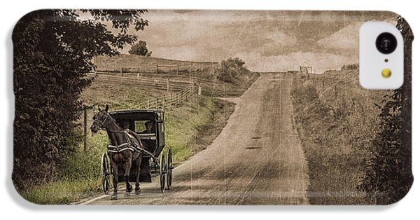 Riding Down A Country Road IPhone 5c Case by Tom Mc Nemar