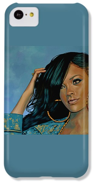 Rihanna Painting IPhone 5c Case by Paul Meijering