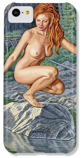 Nudes iPhone 5c Case - River Nymph by Paul Krapf