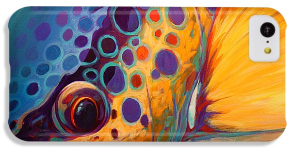 River Orchid - Brown Trout IPhone 5c Case by Savlen Art