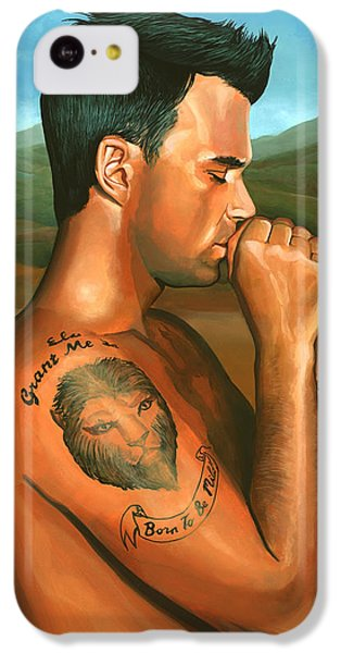 Robbie Williams 2 IPhone 5c Case by Paul Meijering