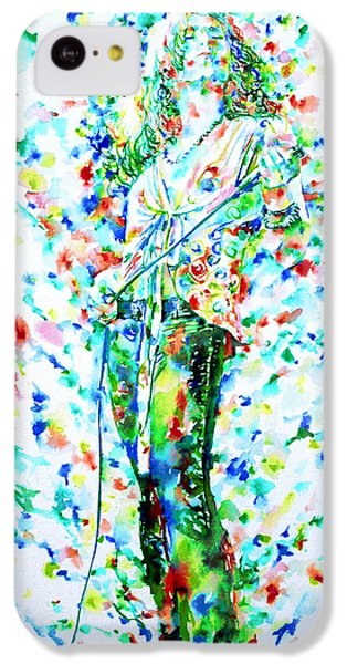 Robert Plant Singing - Watercolor Portrait IPhone 5c Case by Fabrizio Cassetta