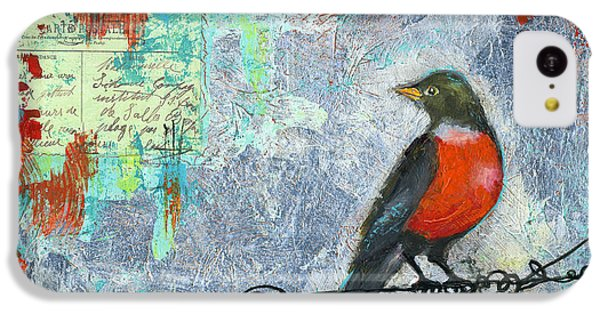 Robin Love Letter  IPhone 5c Case by Blenda Studio