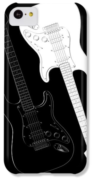 Music iPhone 5c Case - Rock And Roll Yin Yang by Mike McGlothlen