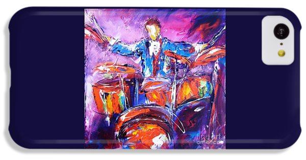 Coldplay iPhone 5c Case - Rock Drummer Painting Available As An Art Print  by Mary Cahalan Lee- aka PIXI