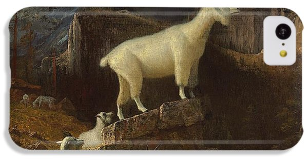 Rocky Mountain Goats IPhone 5c Case by Albert Bierstadt