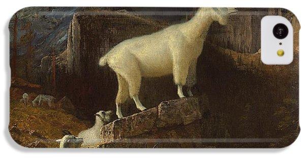 Rocky Mountain Goats IPhone 5c Case by Albert Bierstadt