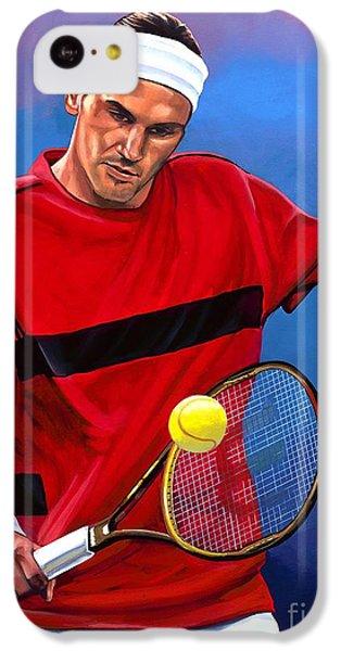 Roger Federer The Swiss Maestro IPhone 5c Case by Paul Meijering