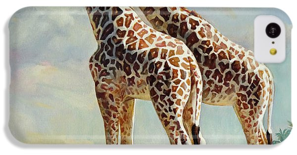Romance In Africa - Love Among Giraffes IPhone 5c Case by Svitozar Nenyuk