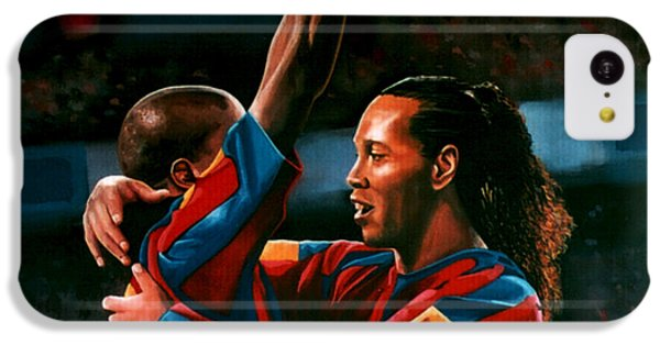 Ronaldinho And Eto'o IPhone 5c Case by Paul Meijering