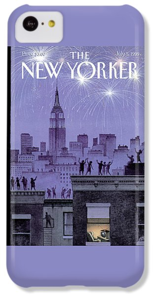 Rooftop Revelers Celebrate New Year's Eve IPhone 5c Case